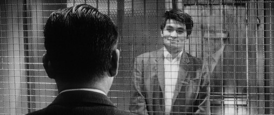 Gondo and Ginjirô finally meet on the same level. © 1963 – Toho Company. All Rights Reserved.