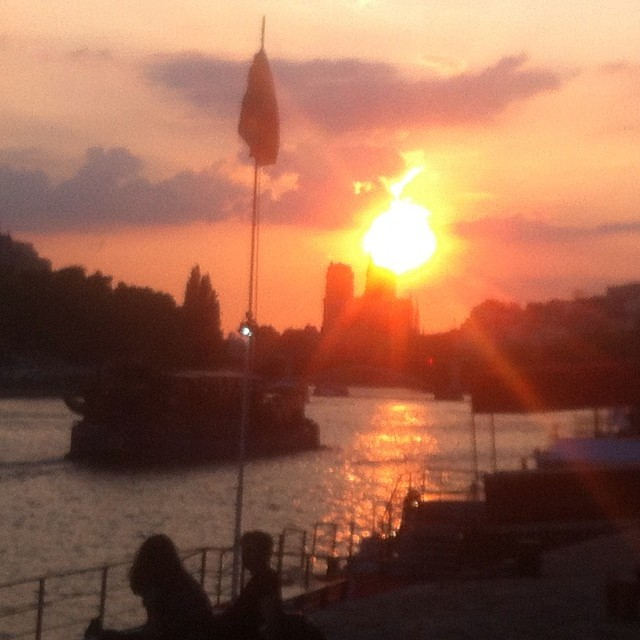 Paris, sunset