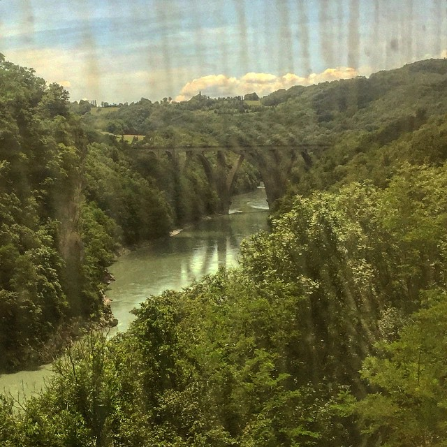 Le Rhone vu du train et non la jungle