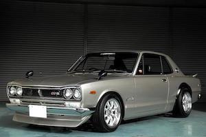 クラシックカー 人間 日本車 国産