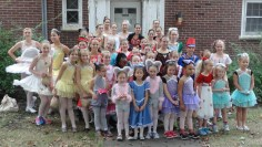 Nutcracker cast members at the ISU Homecoming Parade. (October 2013)