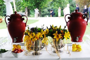 Beverage dispensers and flowers - Beverage-dispensers-and-flowers