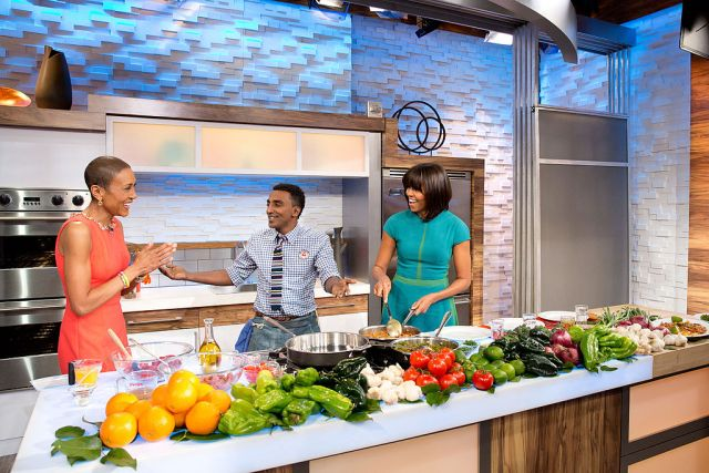 "Chef Samuelsson With First Lady Obama on ""Good Morning America"""