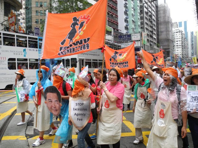 Migrant workers in Hong Kong march for better rights | ©cc by-nc-nd IDWF