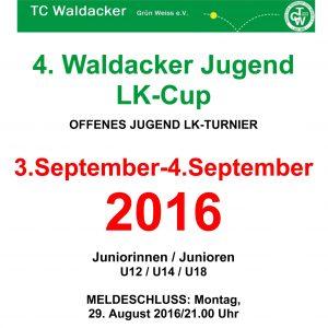 Plakat 2016 4.LK-Turnier