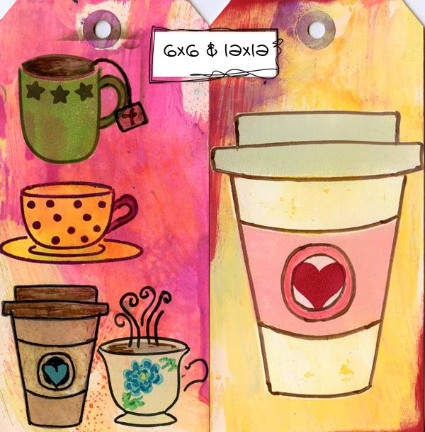 Ronda Palazzari Cafe Latte Stencil