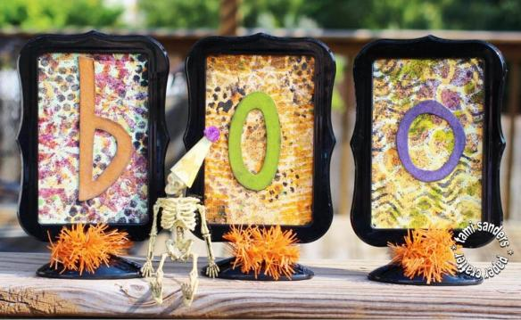 boo framed - tcw_the crafters workshop_stencils_inking with stencils_dye ink sprays_colorbox_halloween decor_tami sanders - wm