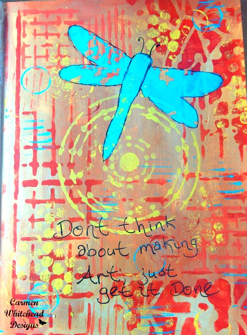 Art journal page from 1 stencil_1