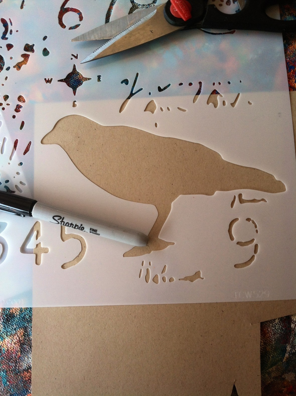 Stencil Trace 1