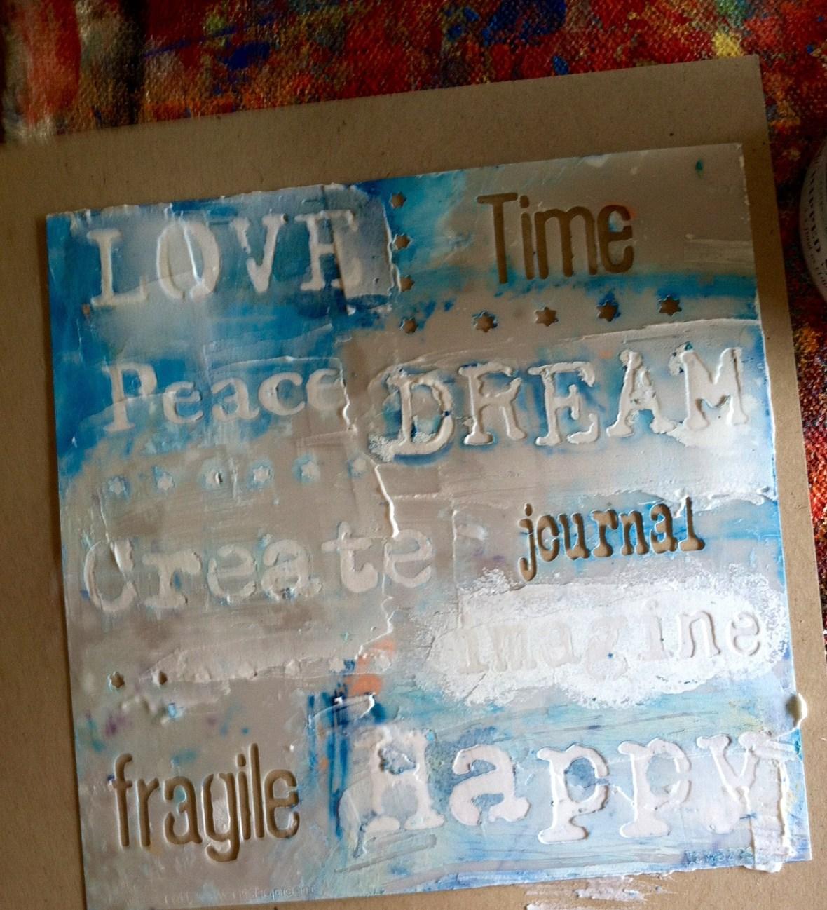 stencil spackle