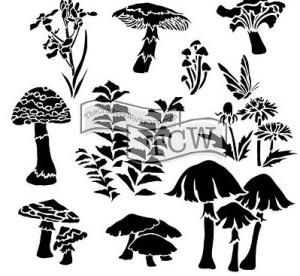 TCW578 Whimsical Shrooms