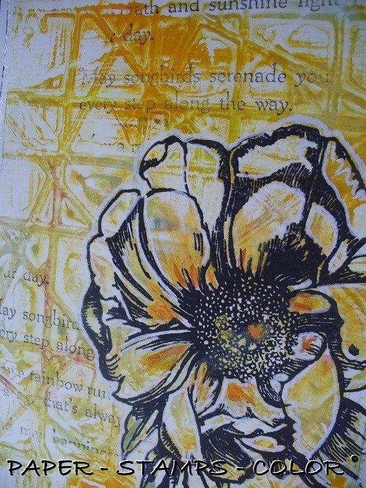 TCW geelgroen monoprint bloem collage (2)