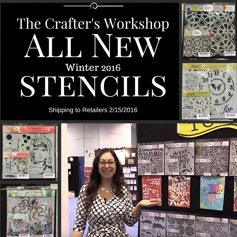 All new stencils from Winter 2016 The Crafters Workshop