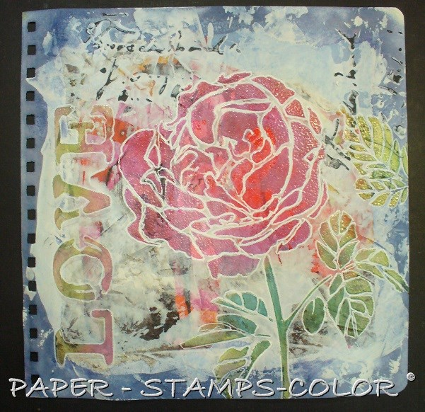 TCW tutorial artjournal roses love (6)
