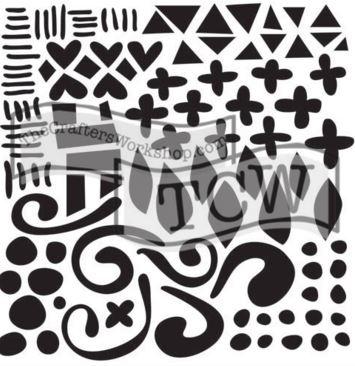 TCW593Doodled Pattern