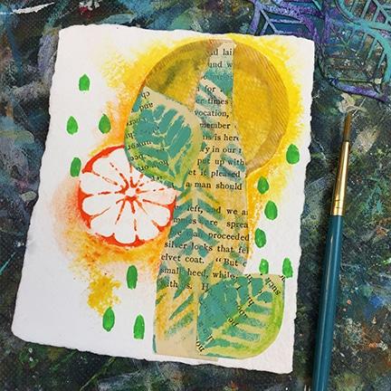 Cut stencil leaves