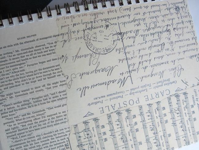 Lefko background vintage ephemera for art journal