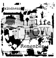 TCW Life Remembered stencil Doodling Template