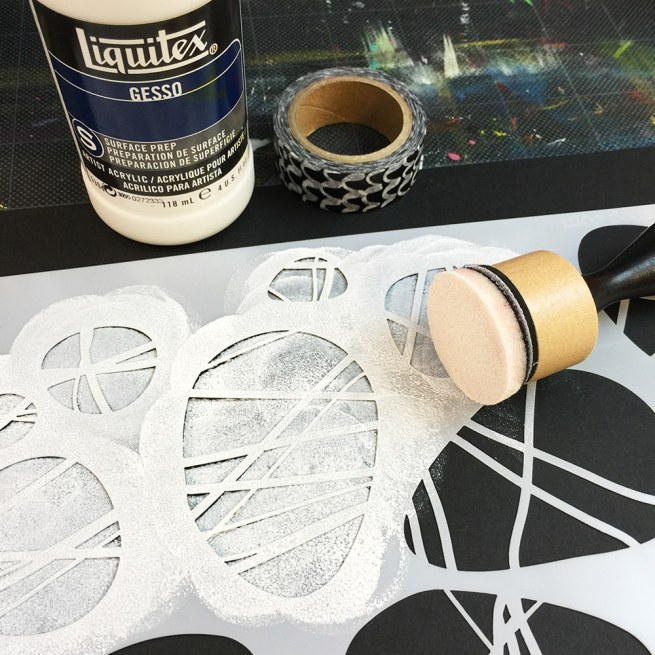 Apply white Paint to your black paper and let it dry completely.