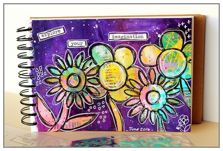 Yasmina TINSANG - Doodling flowers with paint