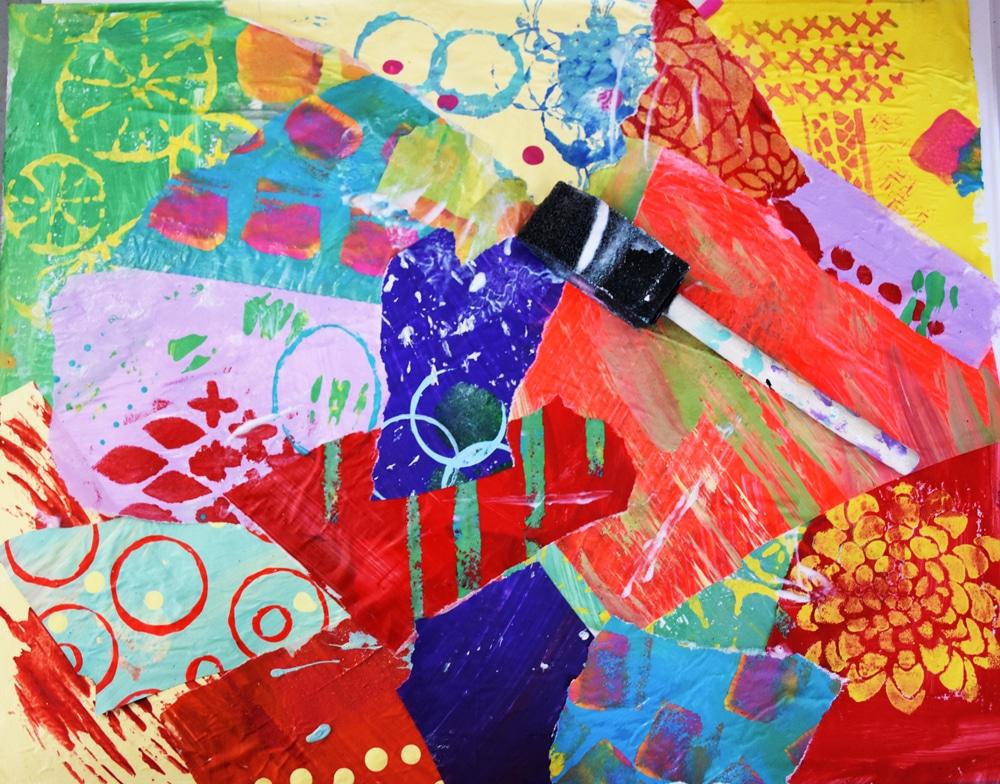 Stenciled Illustrative Collage