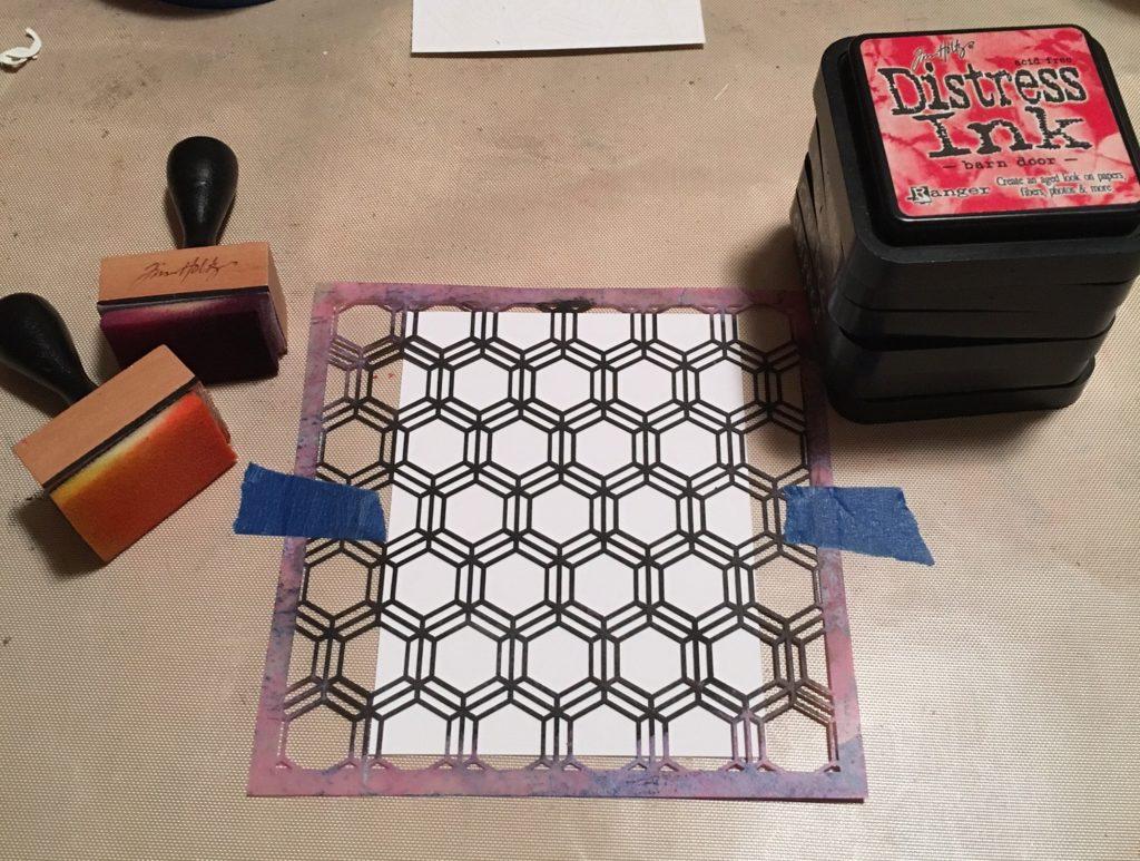 Kim Schofield, CAS card Supplies, TCW346 Honeycomb