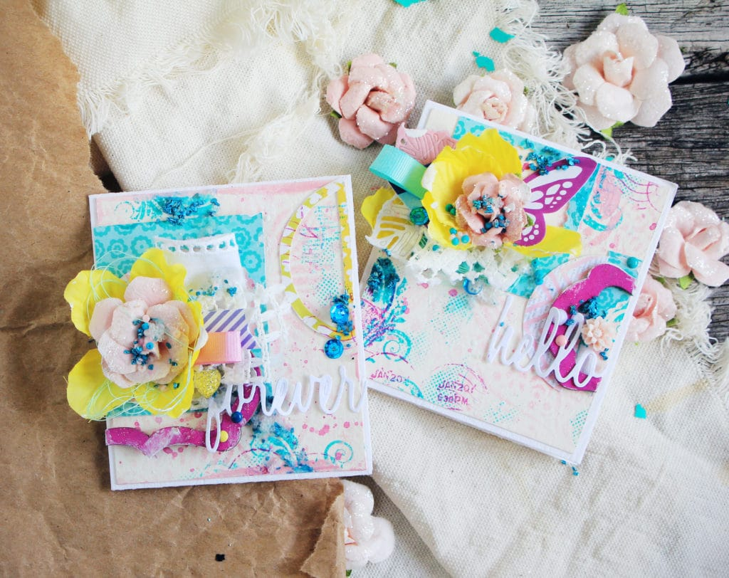 vivid mixed media cards