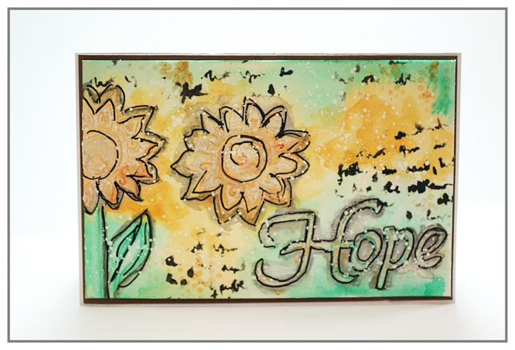 Mixed Media card using TCW2145 and 2154 and also, TCW mediums