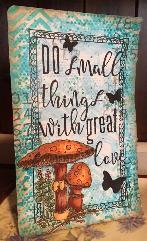 Kim Schofield, Chevron, Honeycomb, Tiny Circles, Art Journal