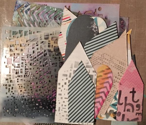 Kim Schofield, Art Journaling, Stenciling