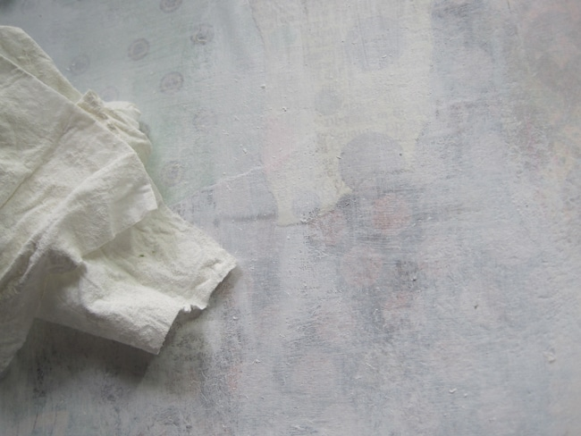 wipe gesso with baby wipe LEFKO
