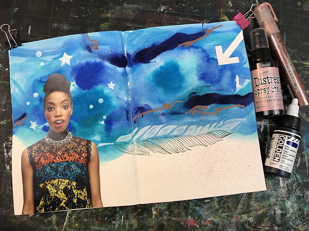 metallic Paint Pen and Acrylic Paint