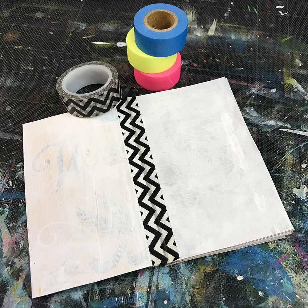 Bind your book with Washi Tape