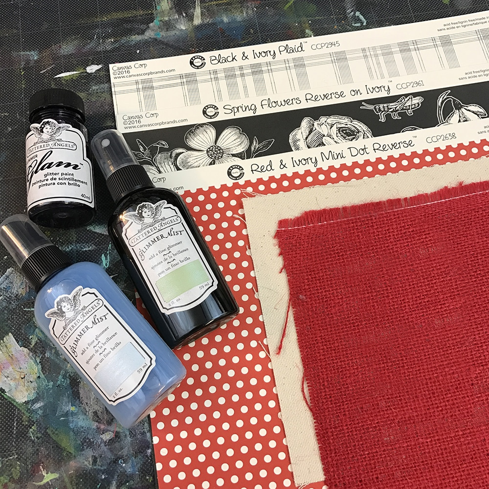 Canvas Corp Brands and Tattered Angels supplies!