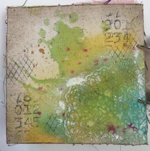 Kim Schofield, TCW, Canvas Corp, Mini Album, Back Cover