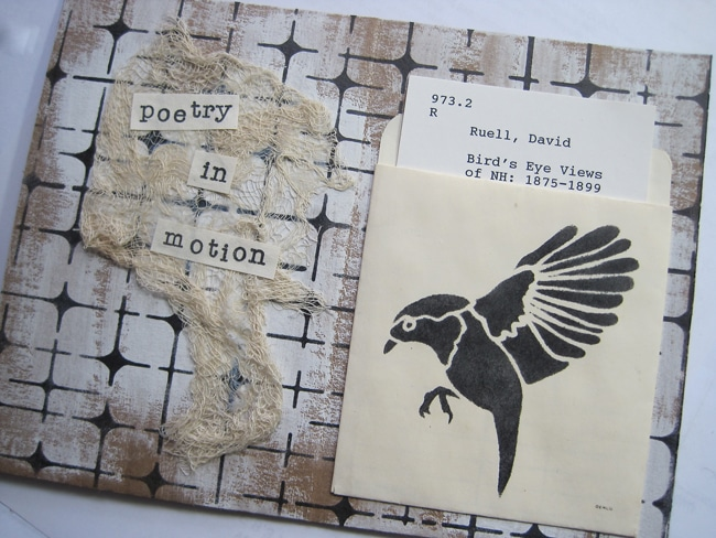 TCW684s stencil on library envelope LEFKO