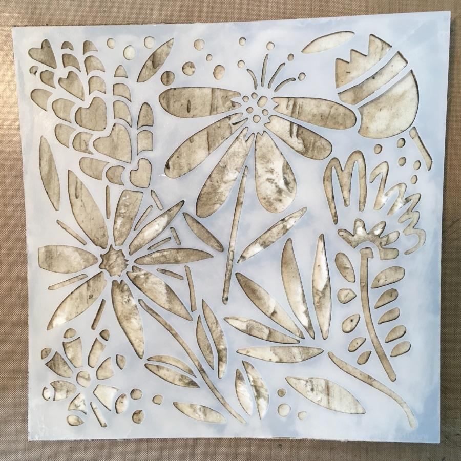Kim Shofield, Modeling Paste Card, Stencil, TCW690