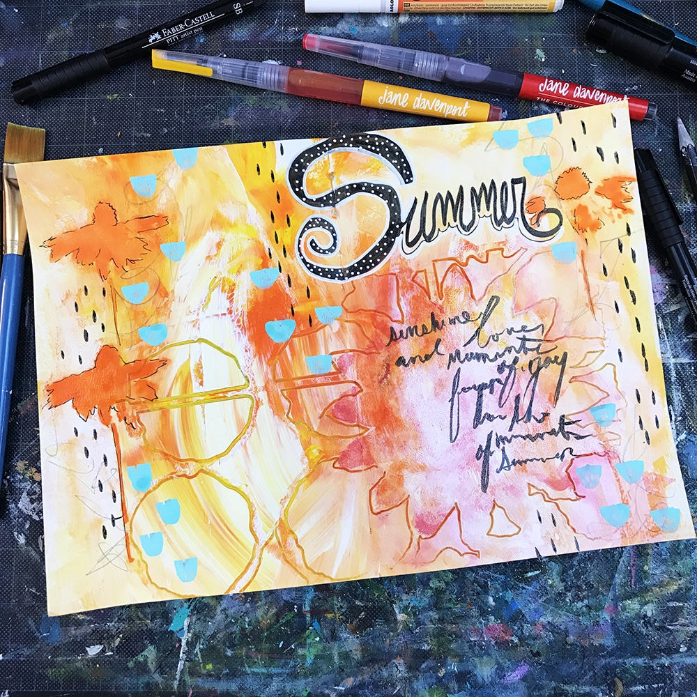 Final Art Journal Spread
