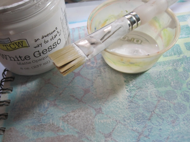 Diluted TCW white gesso LEFKO