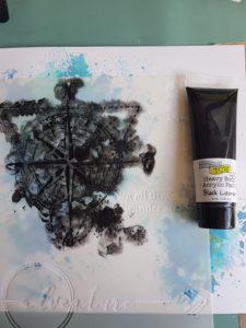 Black Licorice heavy body paint