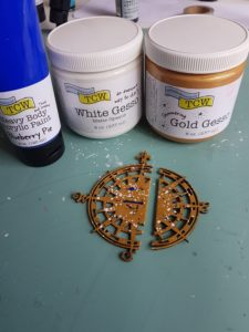 Gold and white Gesso
