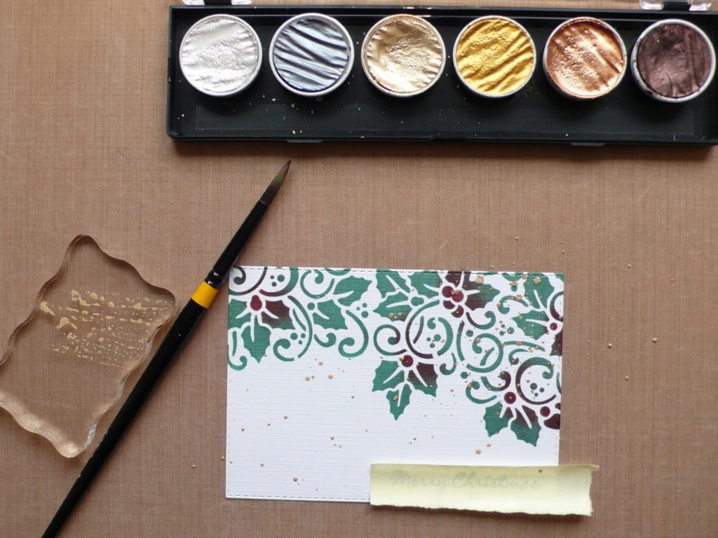 How to get your Christmas cards started the easy way using stencils and ink.