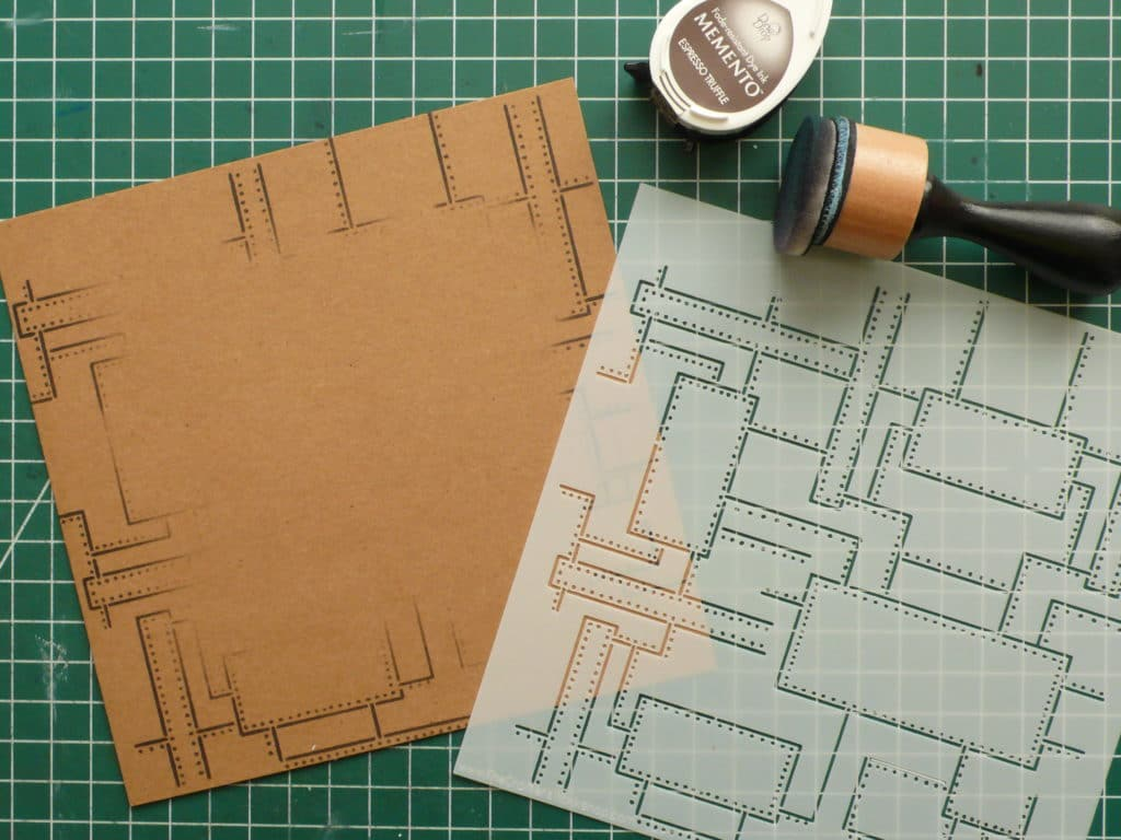 How to create a male birthday card combining stencils and images
