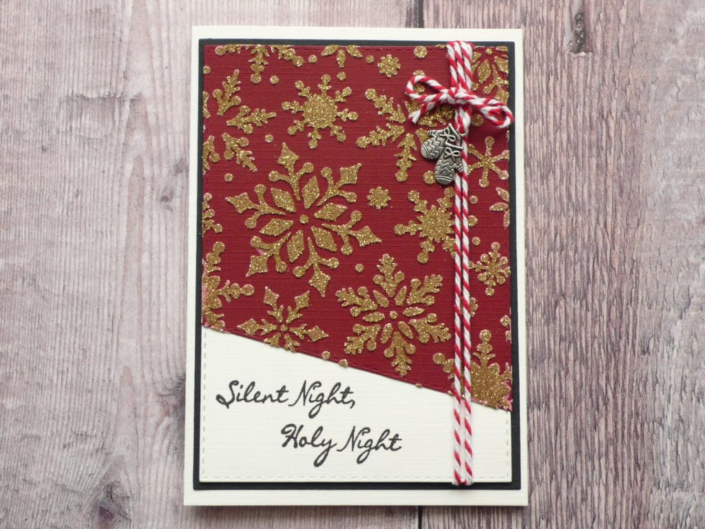 How to make easy glitter embossed Christmas cards