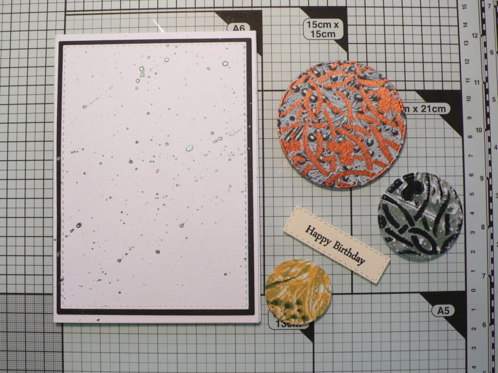 How to create masculine cards using the Gel Press plate