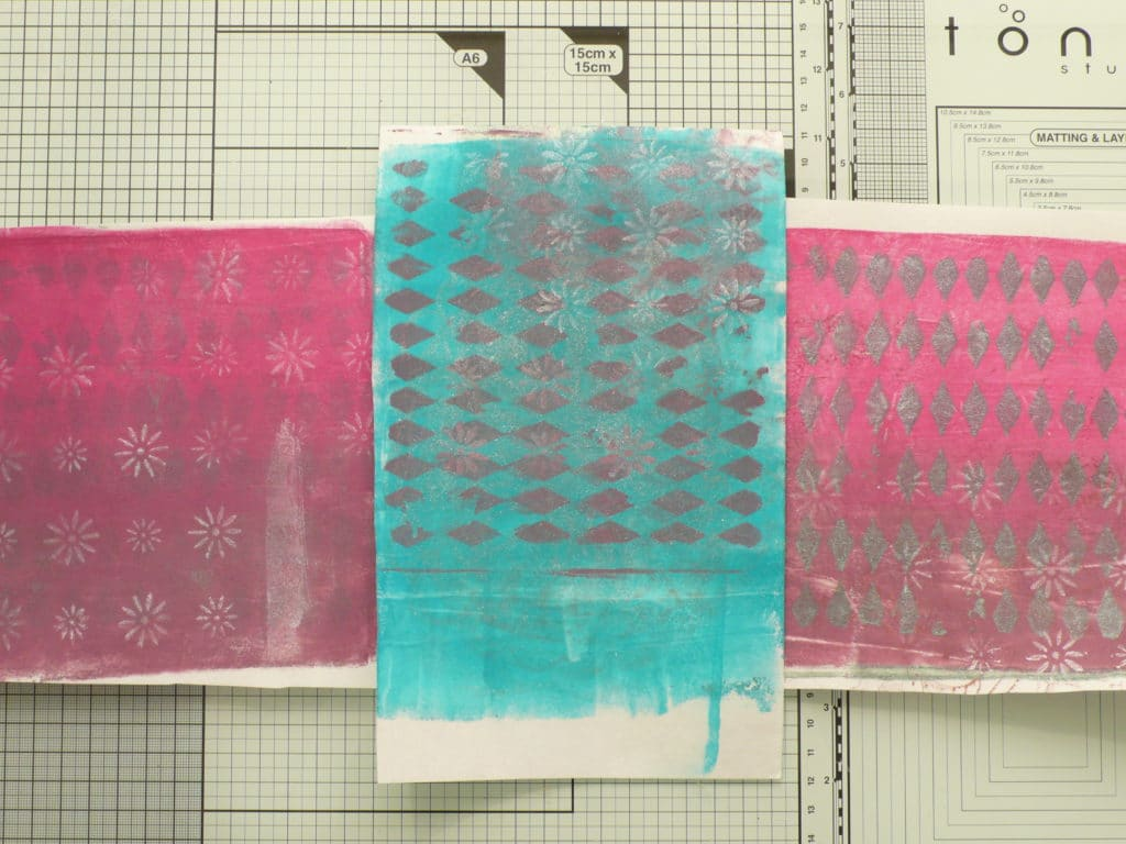 How to create an art journal page using Gel Press mono prints
