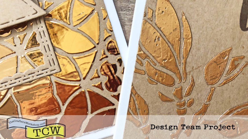 Foiling Comparison - Tacky When Dry & Hot Foil Gel