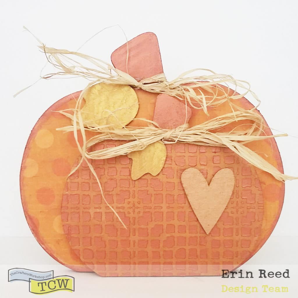 mixed media pumpkin decor
