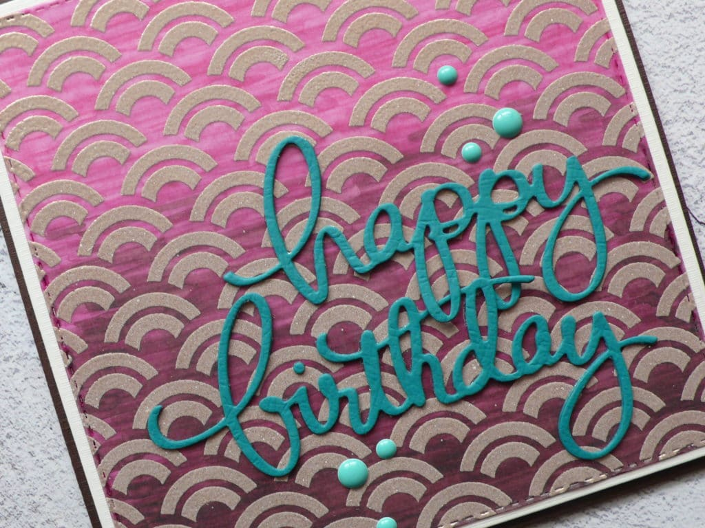 How to create a fun stencilled background card design on vellum