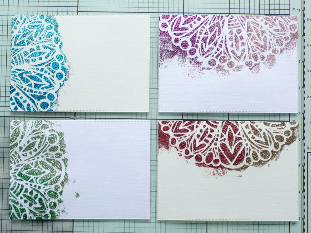 Step by step tutorial on how to create quick and easy sparkle cards